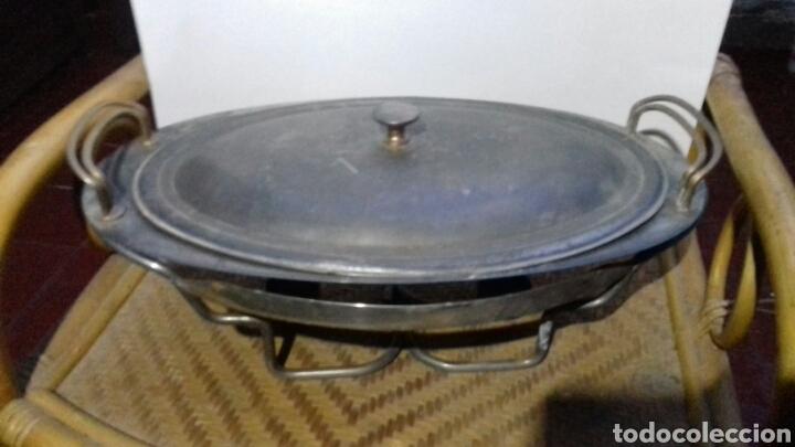 Vintage: Calienta platos bandejas vintage con velas - Foto 3 - 140608297