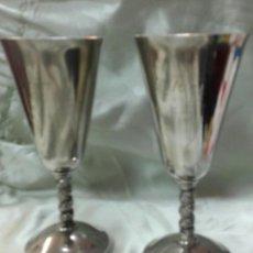 Vintage: 2 COPAS DE METAL PLATEADO. Lote 140659998