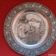 Vintage: PLATO DECORADO -CHRISTMAS-. Lote 140983624