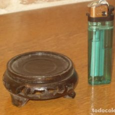 Vintage: ANTIGUA PEANA ORIENTAL DE MADERA TALLADA.. Lote 141567034