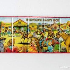 Vintage: ANTIGUA CAJA DE METAL CON PINTURAS DE ACUARELAS WESTERN PAINT BOX. MARCA PAGE LONDON MADE IN ENGLAND. Lote 142473102