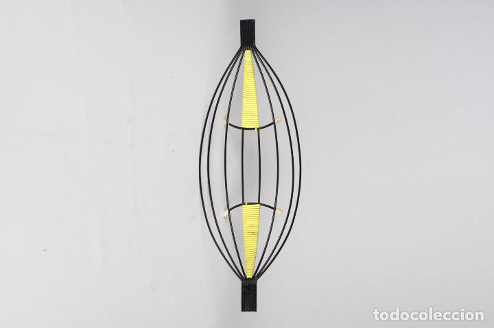 Vintage: frutero metal negro scoubidou amarillo retro Francia años 60 vintage - Foto 2 - 142654938