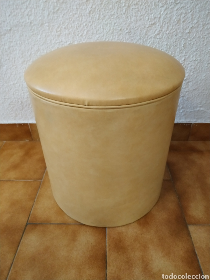 PUFF AÑOS 70 35 CM X 33 CM (Vintage - Decoración - Varios)