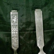 Vintage: PAREJA DE CUCHARAS NORUEGA. MOTIVO VIKINGOS. CURIOSAS.. Lote 143094174