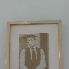 Vintage: CUADRO BUSTER KEATON VINTAGE MARCO DORADO. Lote 143131682