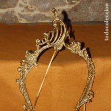 Vintage: MARCO PARA ESPEJO DE BRONCE. Lote 143354082