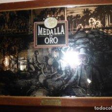 Vintage: CUADRO GRABADO EN ESPEJO DE CAFÉ BRASILIA AÑOS 70. Lote 143684102