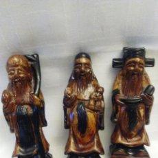 Vintage: LOTE DE TRES FIGURAS CHINAS O ASIATICAS. Lote 143899766