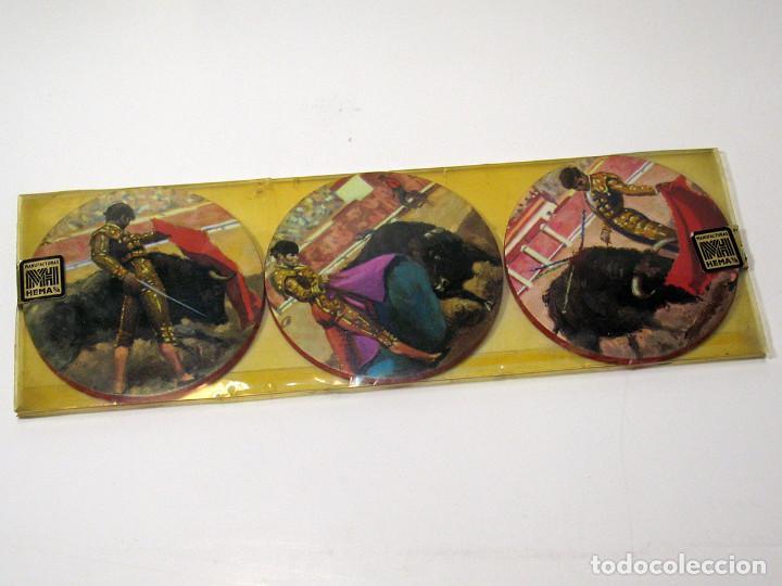 Vintage: Lote 17 posavasos Souvenir 70's Color. Folclore flamenco y toreo. VER FOTOS - Foto 6 - 144057414
