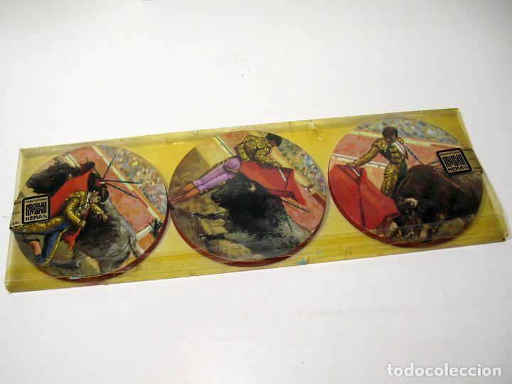 Vintage: Lote 17 posavasos Souvenir 70's Color. Folclore flamenco y toreo. VER FOTOS - Foto 8 - 144057414