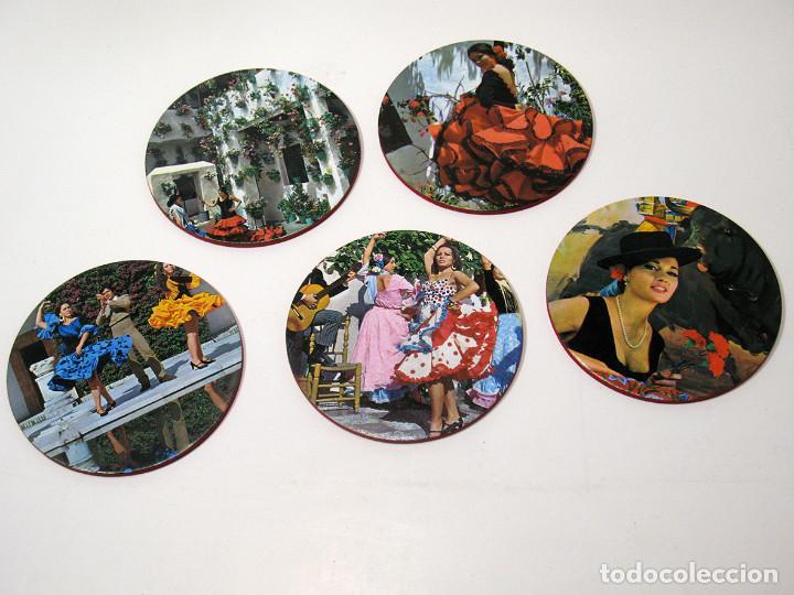 Vintage: Lote 17 posavasos Souvenir 70's Color. Folclore flamenco y toreo. VER FOTOS - Foto 2 - 144057414