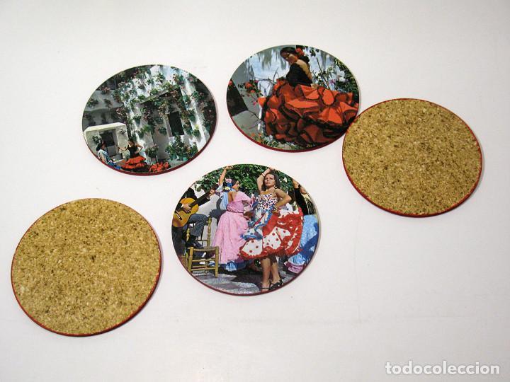 Vintage: Lote 17 posavasos Souvenir 70's Color. Folclore flamenco y toreo. VER FOTOS - Foto 3 - 144057414
