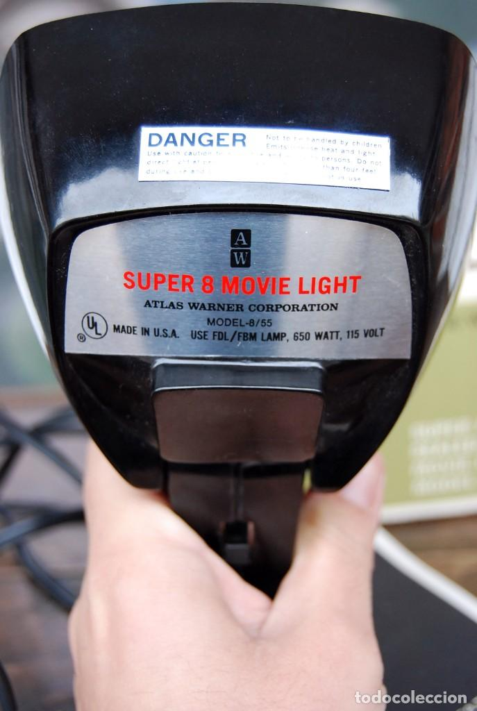 Vintage: VINTAGE LAMPARA FOCO CINE SUPER 8 MOVIE LIGHT ATLAS WARNER CORPORATION 650 WATT MADE IN U.S.A. - Foto 3 - 144204994