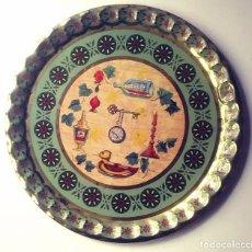 Vintage: GRAN BANDEJA DE METAL LITOGRAFIADA. Lote 144292722