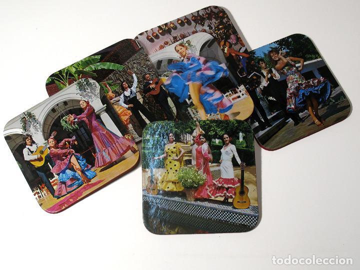 Vintage: Lote 17 posavasos Souvenir 70's Color. Folclore flamenco y toreo. VER FOTOS - Foto 5 - 144057414