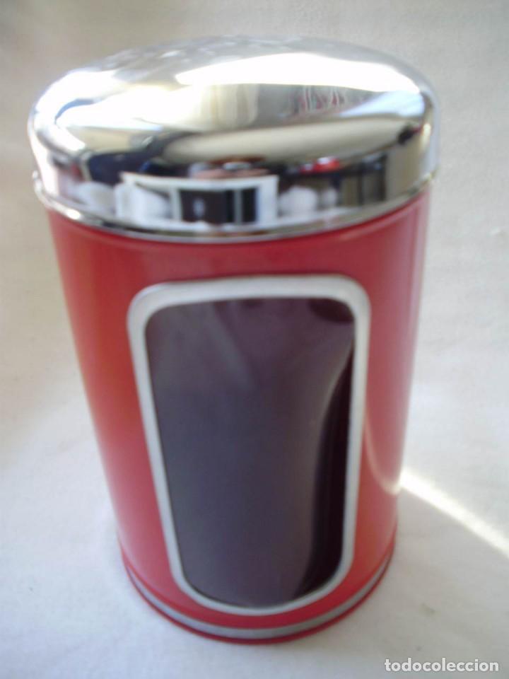 Vintage: 4 Botes Cocina Brabantia de Metal Esmaltado Color Rojo con Ventana Vintage España Años 60-70 - Foto 2 - 145444386