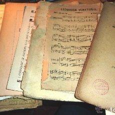Vintage: 40 PARTITURAS ANTIGUAS DE PIANO -AÑOS 20, 30, 40,ETC. -VALS, MARCHA - VER DETALLES Y FOTOS. Lote 145777194