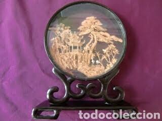 Vintage: Adorno de madera con paisaje en el centro. - Foto 10 - 145778164