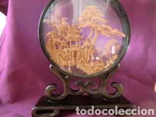 Vintage: Adorno de madera con paisaje en el centro. - Foto 12 - 145778164