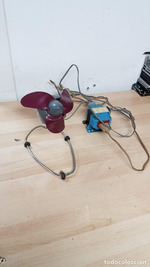 Vintage: Antiguo ventilador HURRICANE + transformador de 125v a 220 - Foto 2 - 145838346