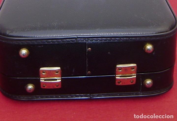 Vintage: Maleta maletin de fin de semana de viaje color negro.Con llave. - Foto 6 - 145849506