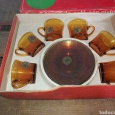 Vintage: TAZAS DE CAFE DURALEX AMBAR. Lote 146225920