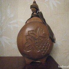 Vintage: CANTIMPLORA DE MADERA TALLADA POR AMBAS PARTES. (RUSA). Lote 146614618