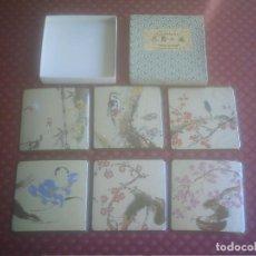Vintage: POSAVASOS COLECCION FLOWERS AND BIRDS BY SETSUZANSHI SENDA . Lote 146806438