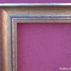 Vintage: MARCO VINTAGE DE MADERA, DORADO. 61CM X 43CM.. Lote 147142810
