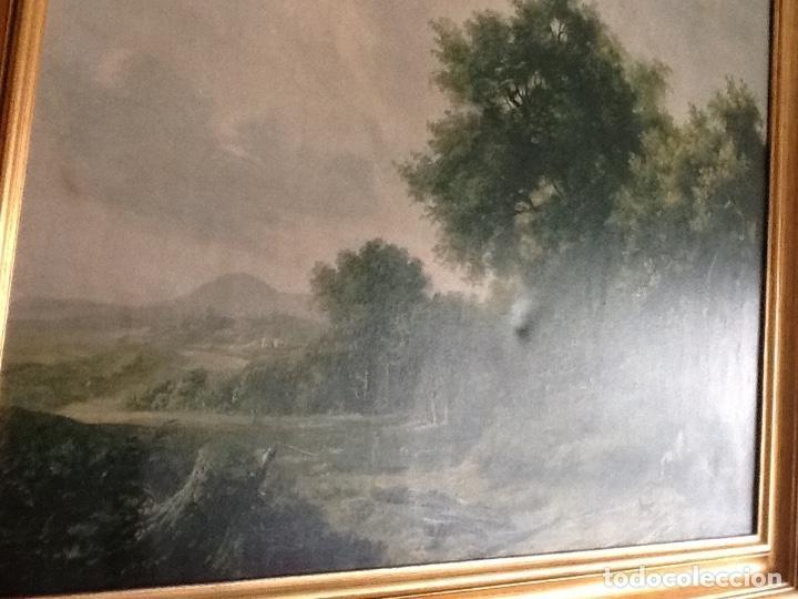 Vintage: VINTAGE CUADRO PAISAJE HOBBEMA - CON MARCO - 88,5 x 70 cm - Foto 3 - 147227138