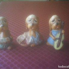Vintage: PERROS MUSICOS COMPOSICION. Lote 147395122