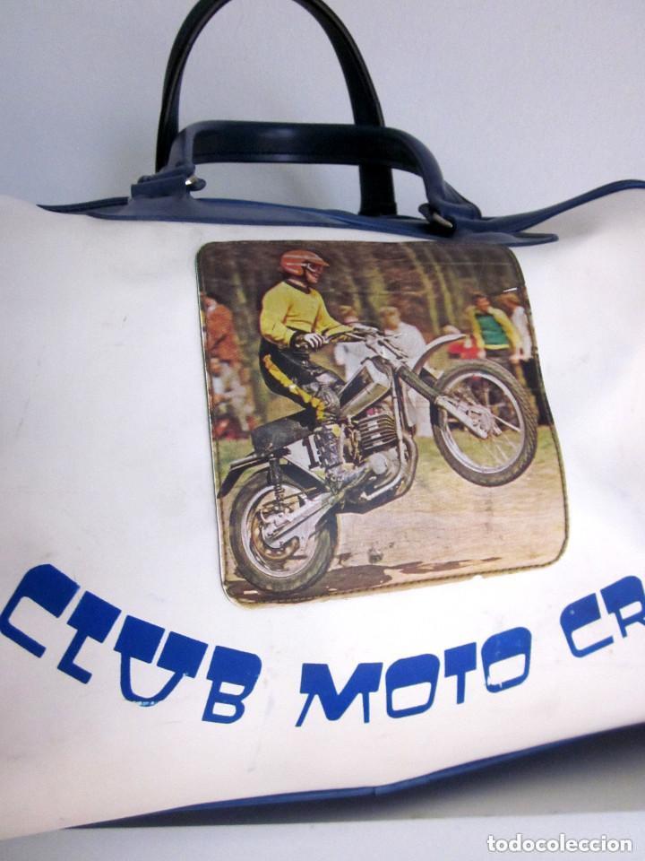 Vintage: Excelente Bolsa Motorista Club Moto Cross años 70 plástico Made in Spain Romero Segarra cremallera - Foto 2 - 147438022