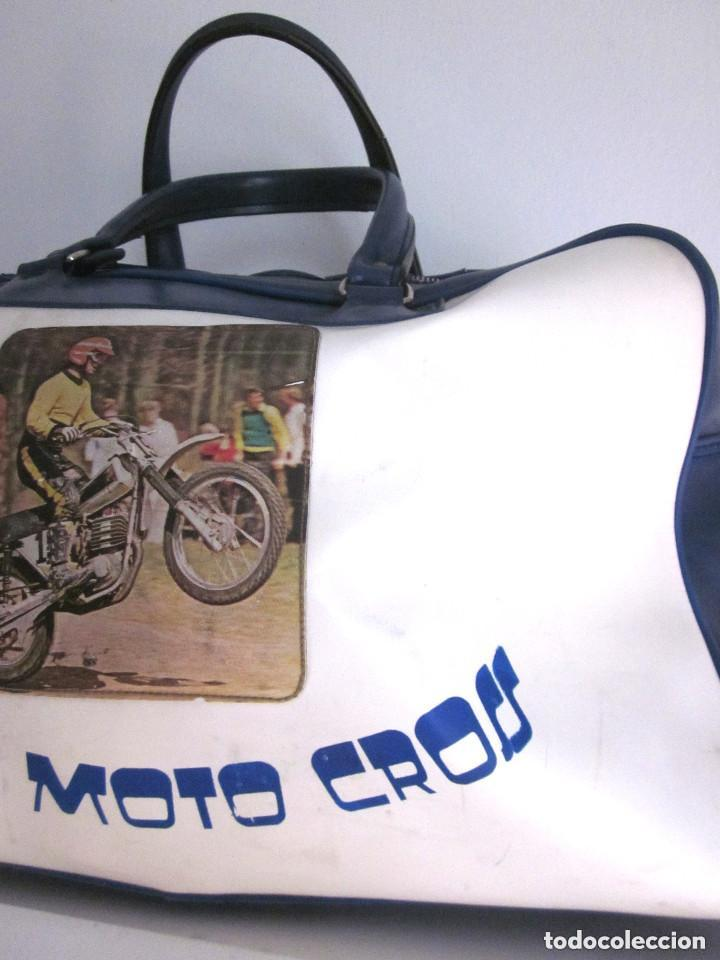 Vintage: Excelente Bolsa Motorista Club Moto Cross años 70 plástico Made in Spain Romero Segarra cremallera - Foto 3 - 147438022