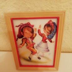 Vintage: CUADRO INFANTIL PAREJA NIÑOS CON TRAJES GOYESCOS - CUADRITO DECORACION VINTAGE AÑOS 50 - 60. Lote 147789898