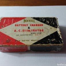 Vintage: CARGADOR DE PILAS DE 9V MAXELL VINTAGE. Lote 148690490