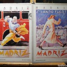 Vintage: MOVIDA MADRILEÑA. MADRIZ. JAVIER DE JUAN. PAREJA DE 2 LAMINAS. Lote 195216955