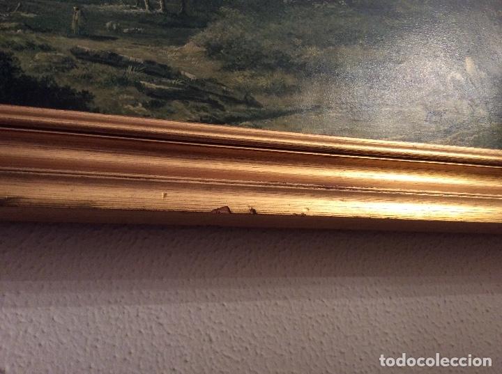 Vintage: VINTAGE CUADRO PAISAJE HOBBEMA - CON MARCO - 88,5 x 70 cm - Foto 5 - 147227138