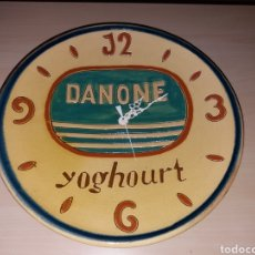 Vintage: ANTIGUO RELOJ DE PARED YOGHOURT DANONE. Lote 149707848