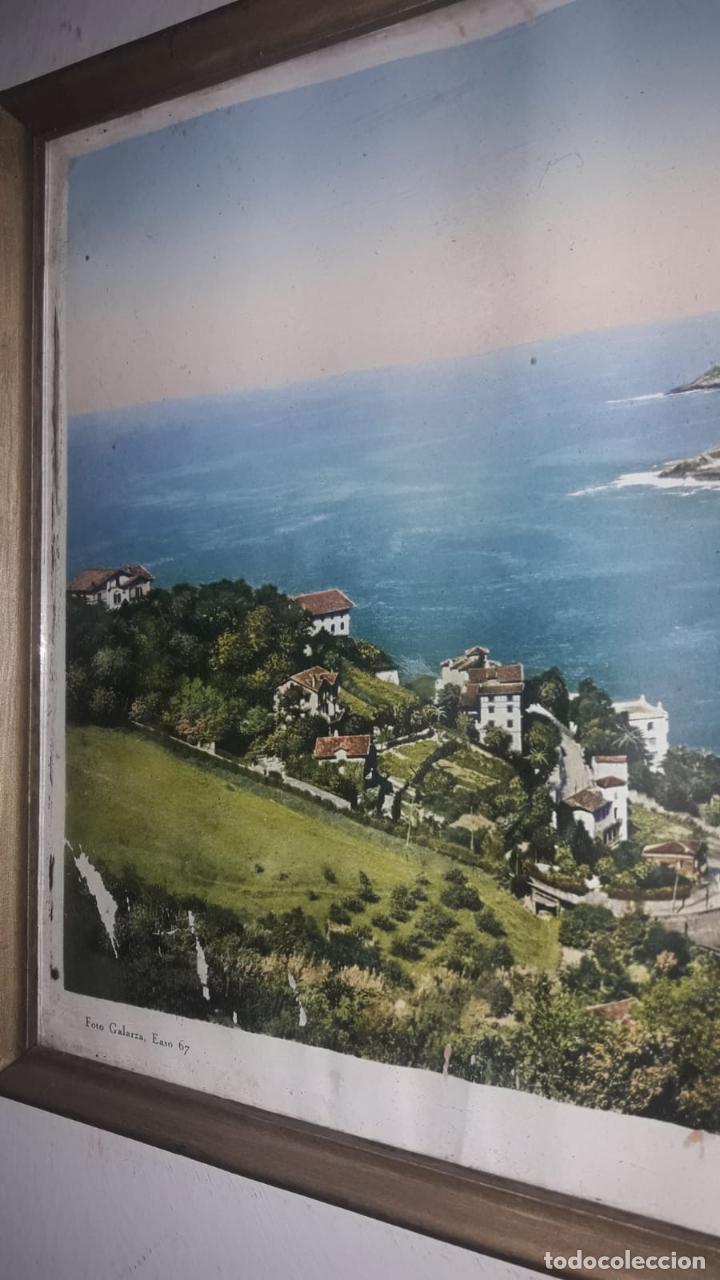 Vintage: Cuadro vistas panorámicas de San sebastian Panorama monte igueldo 60x23 Foto galarza easo 67 - Foto 3 - 149719566