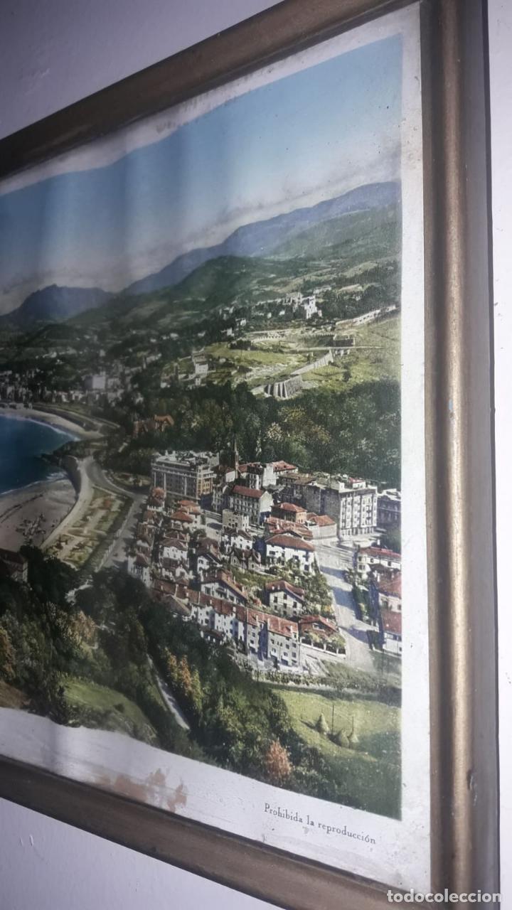 Vintage: Cuadro vistas panorámicas de San sebastian Panorama monte igueldo 60x23 Foto galarza easo 67 - Foto 7 - 149719566