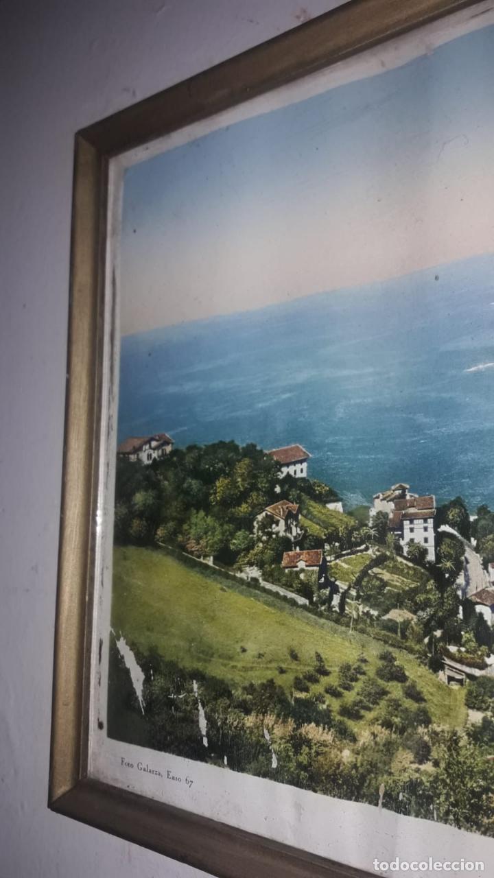 Vintage: Cuadro vistas panorámicas de San sebastian Panorama monte igueldo 60x23 Foto galarza easo 67 - Foto 9 - 149719566