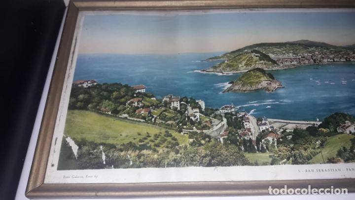 Vintage: Cuadro vistas panorámicas de San sebastian Panorama monte igueldo 60x23 Foto galarza easo 67 - Foto 10 - 149719566