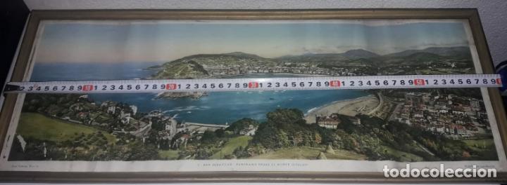 Vintage: Cuadro vistas panorámicas de San sebastian Panorama monte igueldo 60x23 Foto galarza easo 67 - Foto 12 - 149719566