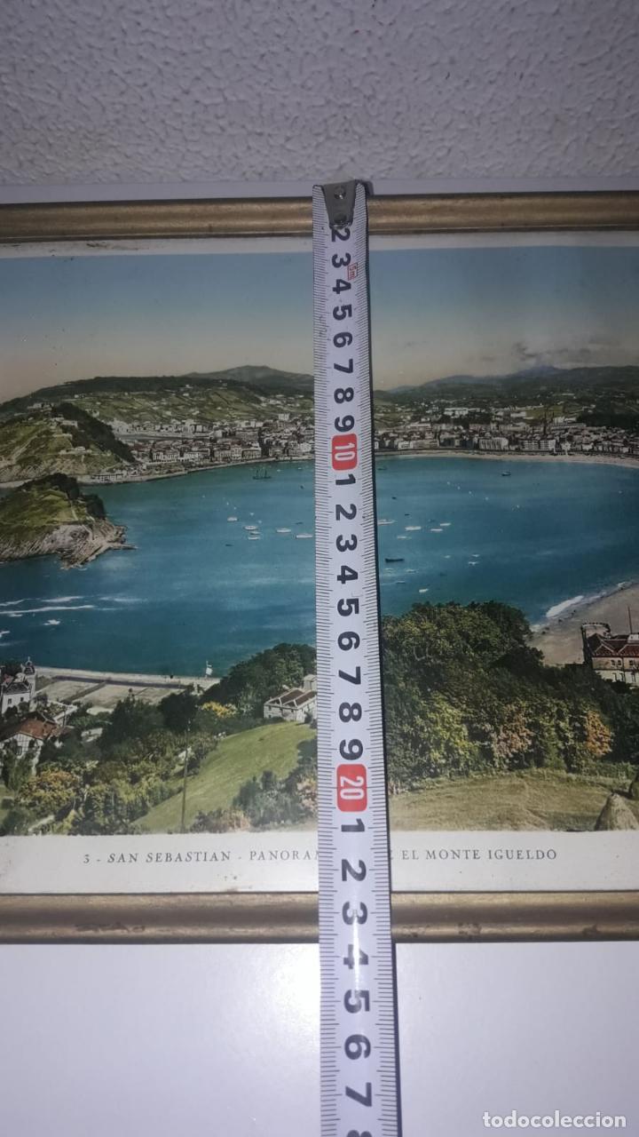 Vintage: Cuadro vistas panorámicas de San sebastian Panorama monte igueldo 60x23 Foto galarza easo 67 - Foto 13 - 149719566