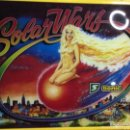 Vintage: BACKGLASS CRISTAL PINBALL SOLAR WARS SONIC. Lote 150162642