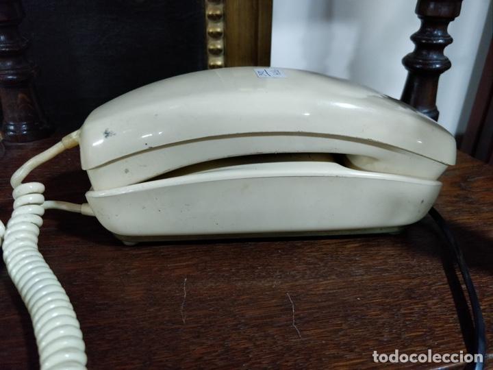 ANTIGUO TELÉFONO GÓNDOLA COLOR CREMA, TELEFÓNICA, CABLES EN PERFECTO ESTADO. (Vintage - Varios)