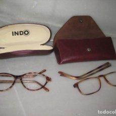 Vintage: LOTE DE 2 GAFAS GRADUADAS SIN MARCA APARENTE. Lote 150215630