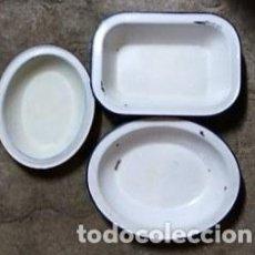 Vintage: TRES FUENTES ESMALTADAS. Lote 150713649