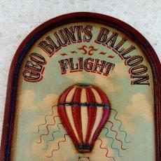 Vintage: COUNTRY CORNER GEO BLUNTS BALLOON FLIGHT RICHMOND 1816 TALLADO 3D EN MADERA 90 X 61 CM. Lote 151036818