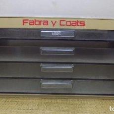 Vintage: CAJONERA HILOS FABRA COATS, CUATRO CAJONES, EXCELENTE ESTADO, IDEAL COLECCIONES.. Lote 151064842
